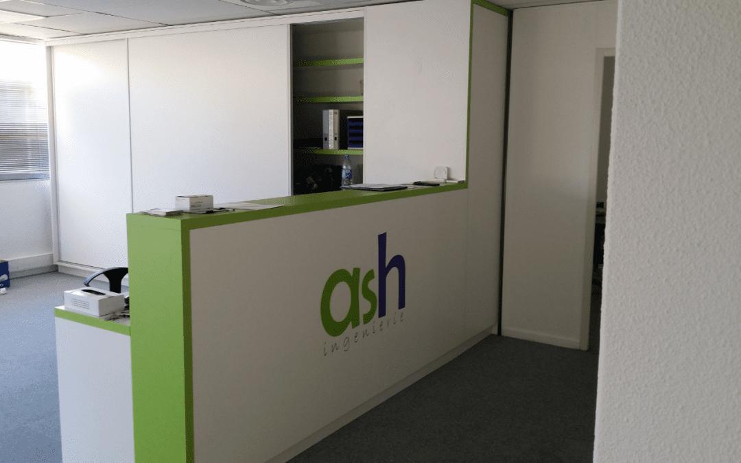 Habillage bureaux & véhicules – ASH