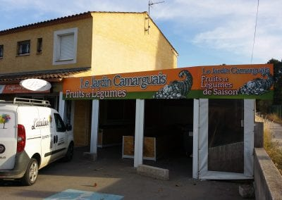 Enseigne & panneau ardoisine – le Jardin Camarguais