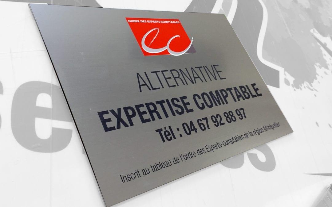 Plaque gravée – Alternative expertise comptable