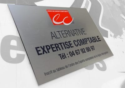 Plaque gravée – Alternative expertise comptable