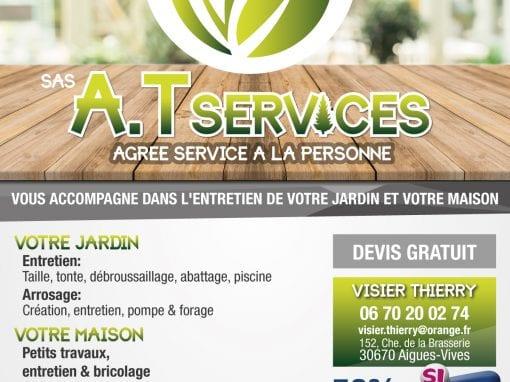 Charte graphique & plaquette – AT Services