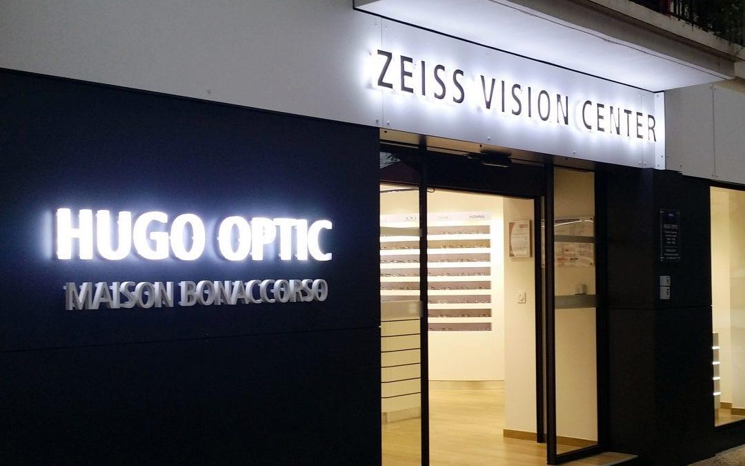 Enseigne lumineuse – Hugo Optic Lunel