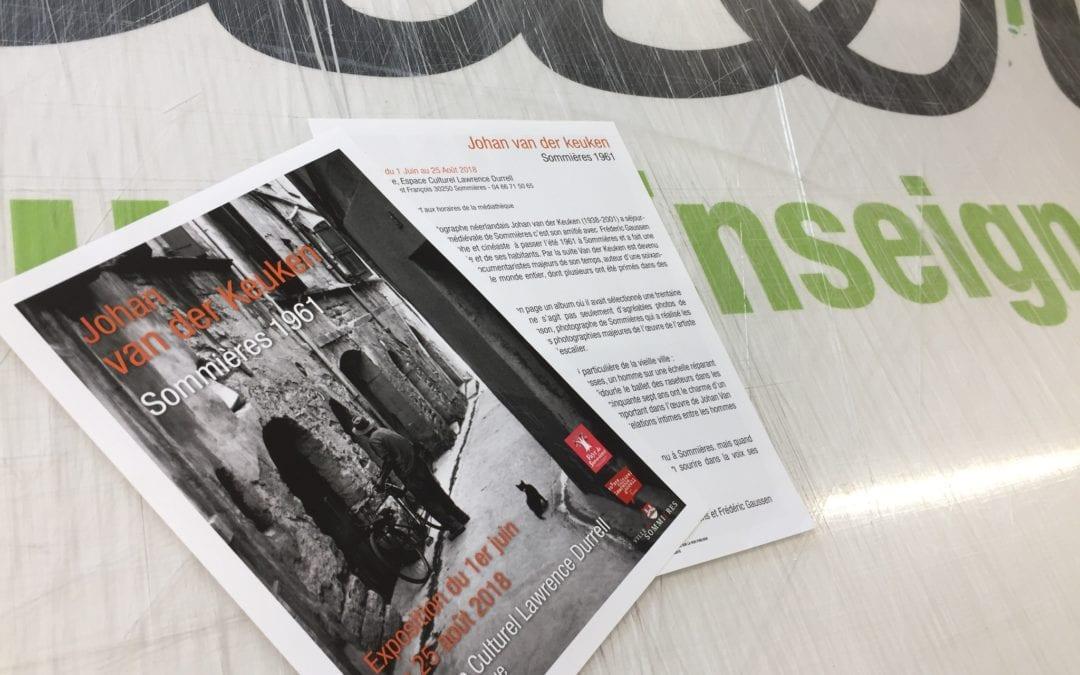 Flyer exposition Van der Keuken Sommières