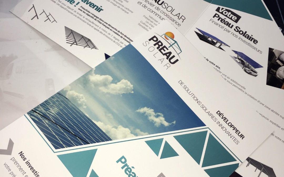 Logo et plaquettes commerciales Préau Solar