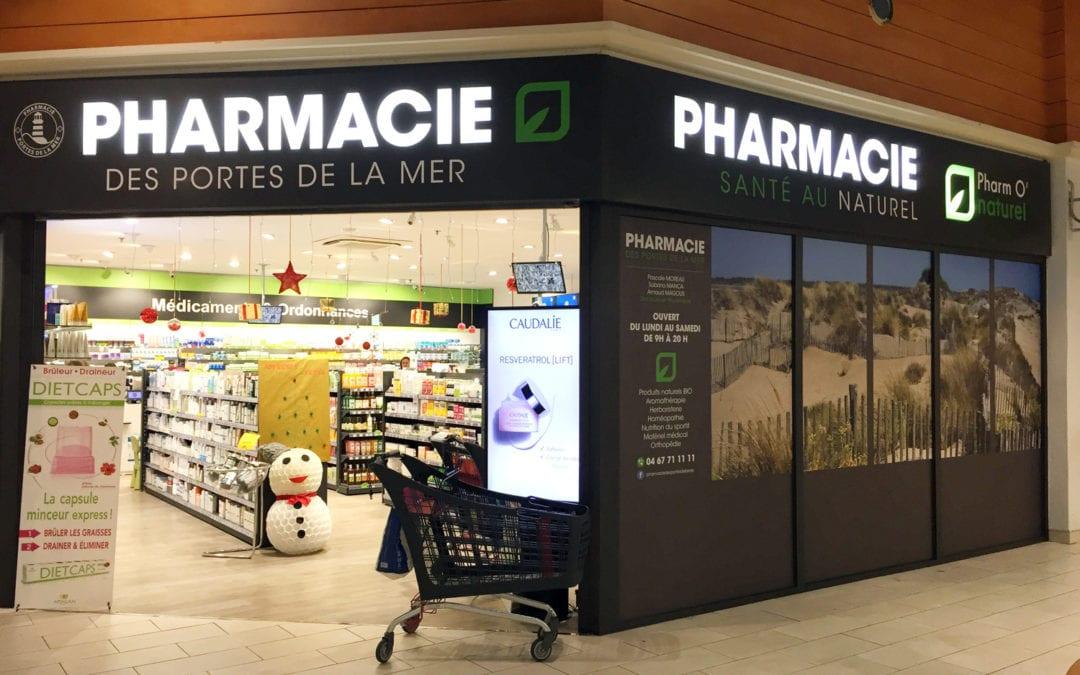 Enseigne lumineuse Pharmacie des portes de la mer